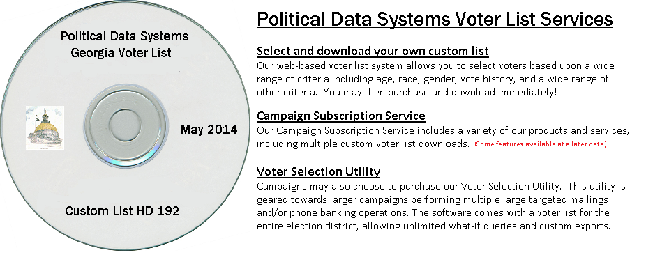 Voter Lists - Political Data Systems